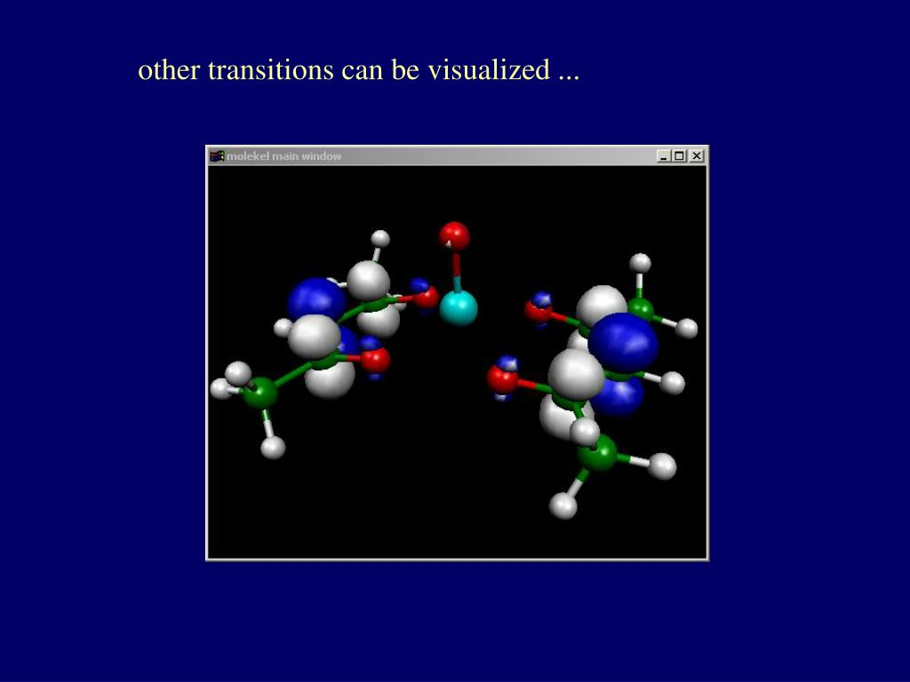 other transitions can be visualized ...