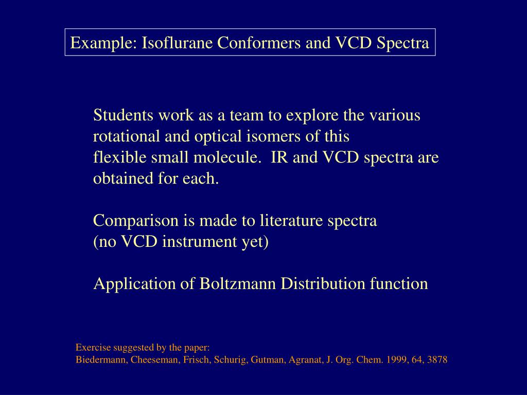 Example: Isoflurane Conformers and VCD Spectra