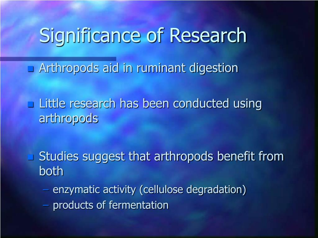 Significance of Research