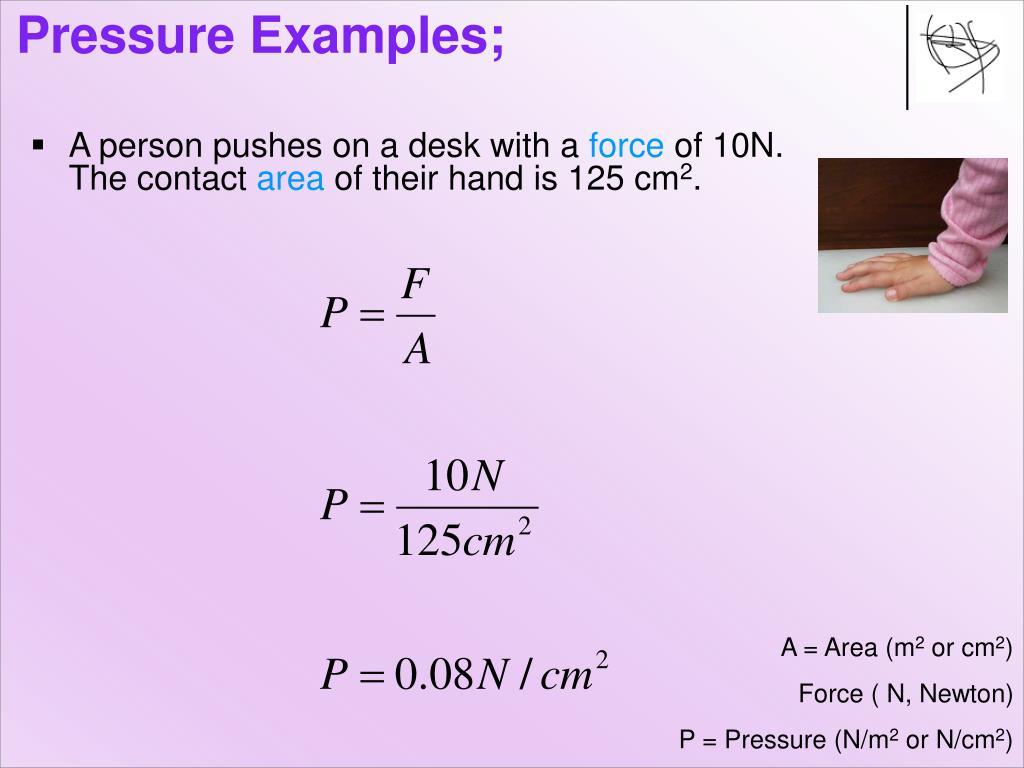 Pressure Examples;