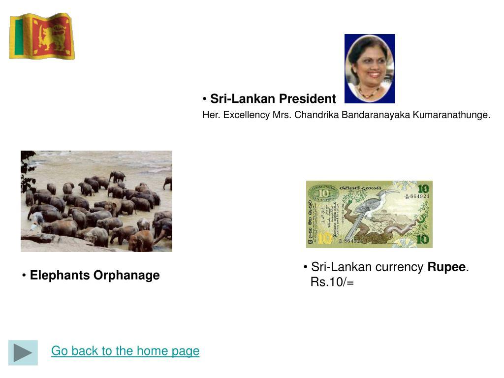 Sri-Lankan President