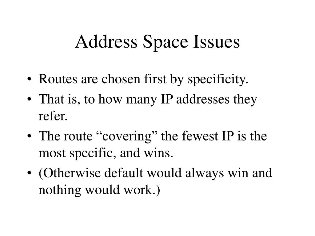 Address Space Issues