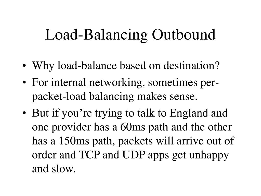 Load-Balancing Outbound