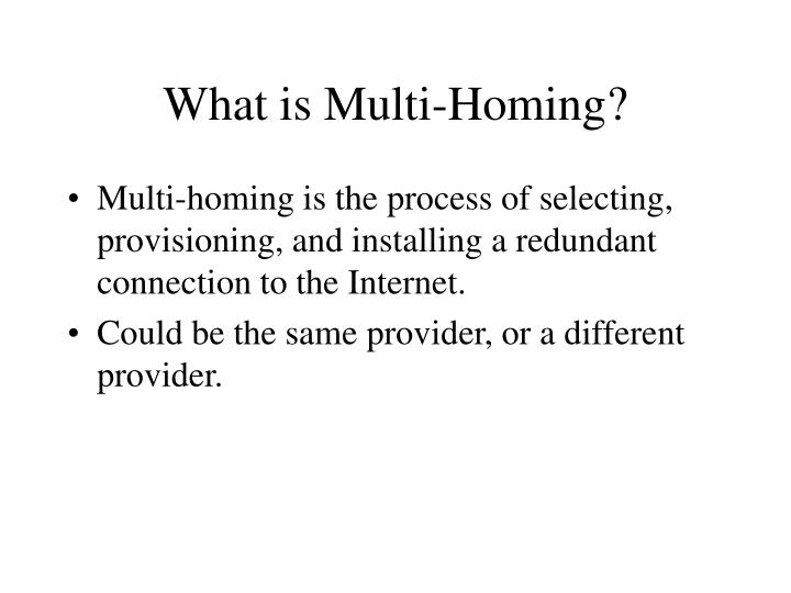 What is multi homing