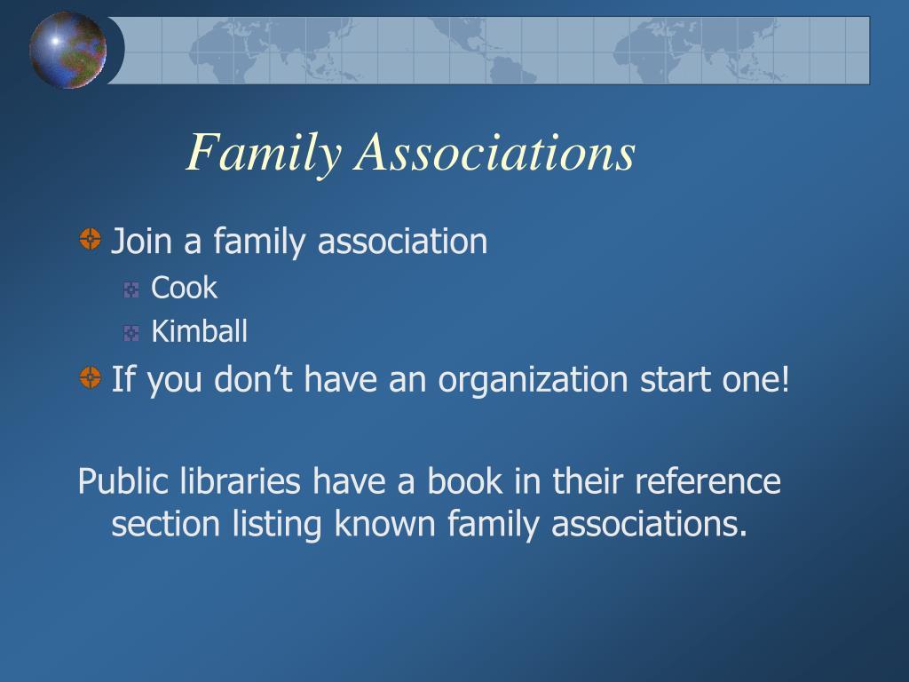 Family Associations