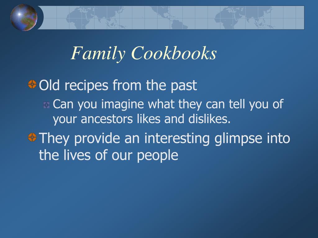 Family Cookbooks