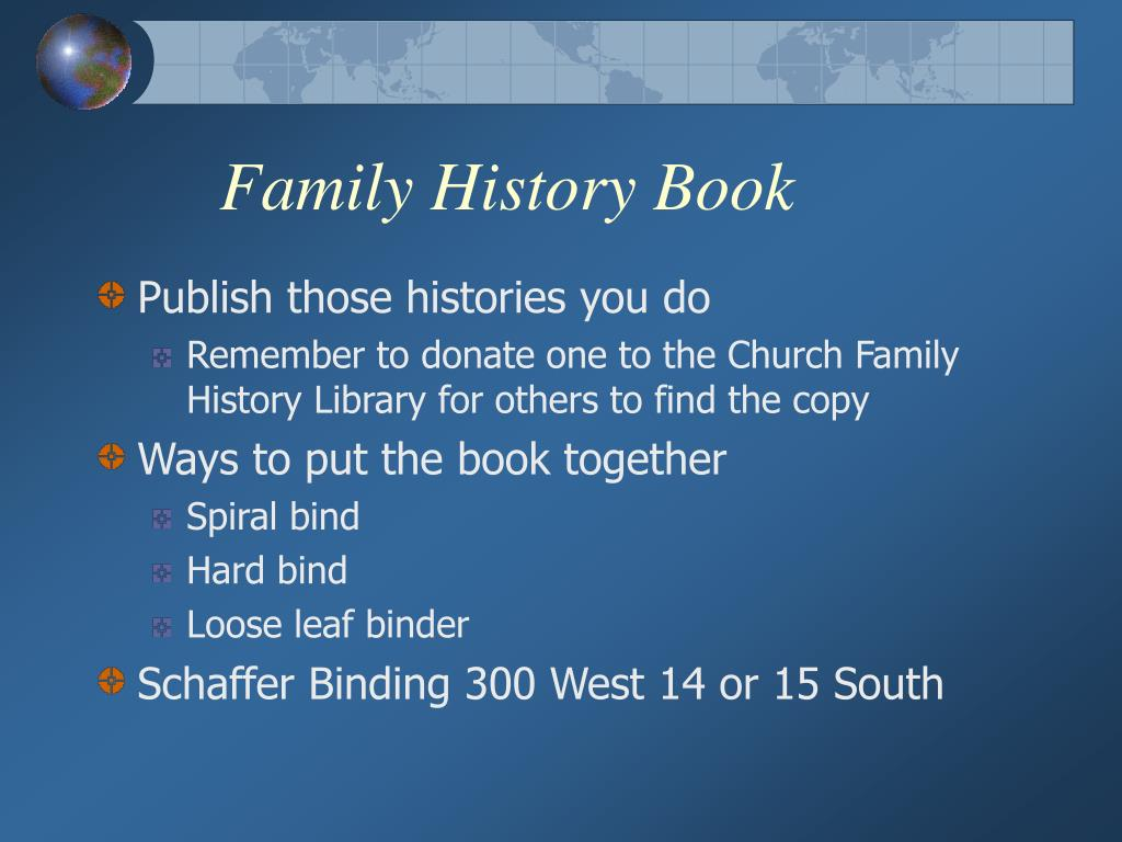 Family History Book