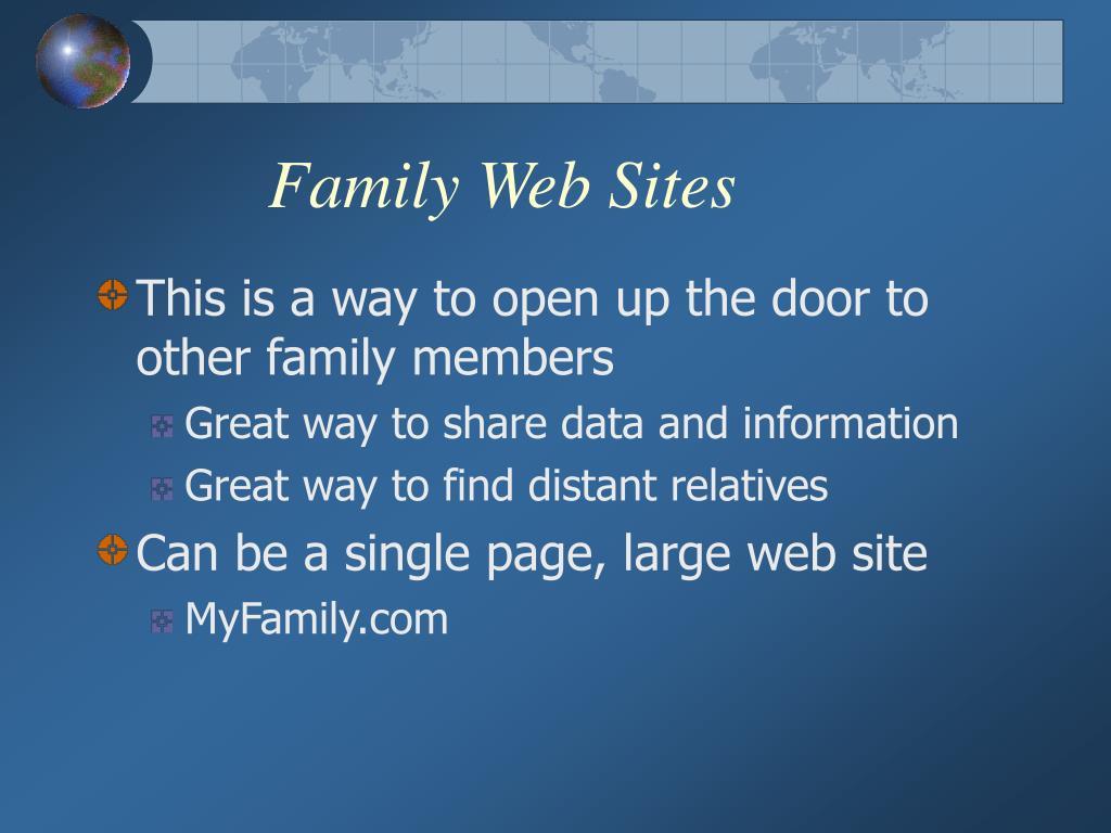 Family Web Sites