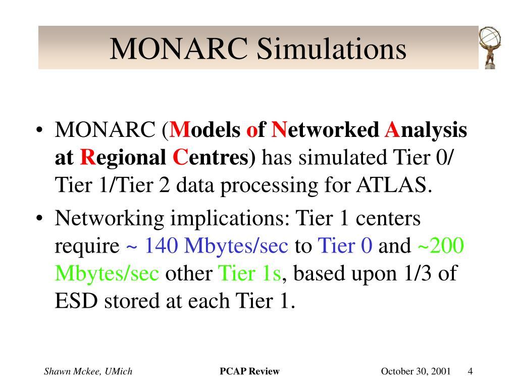 MONARC Simulations