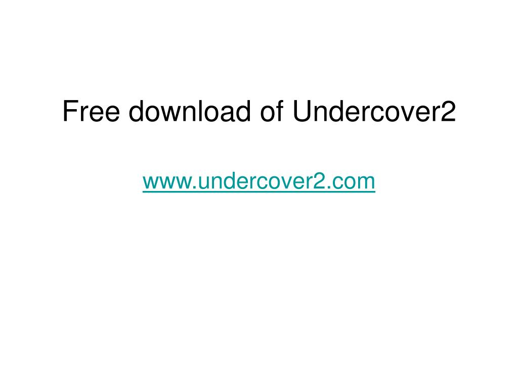 Free download of Undercover2