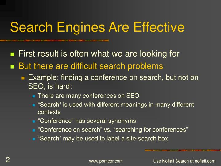 Search engines are effective