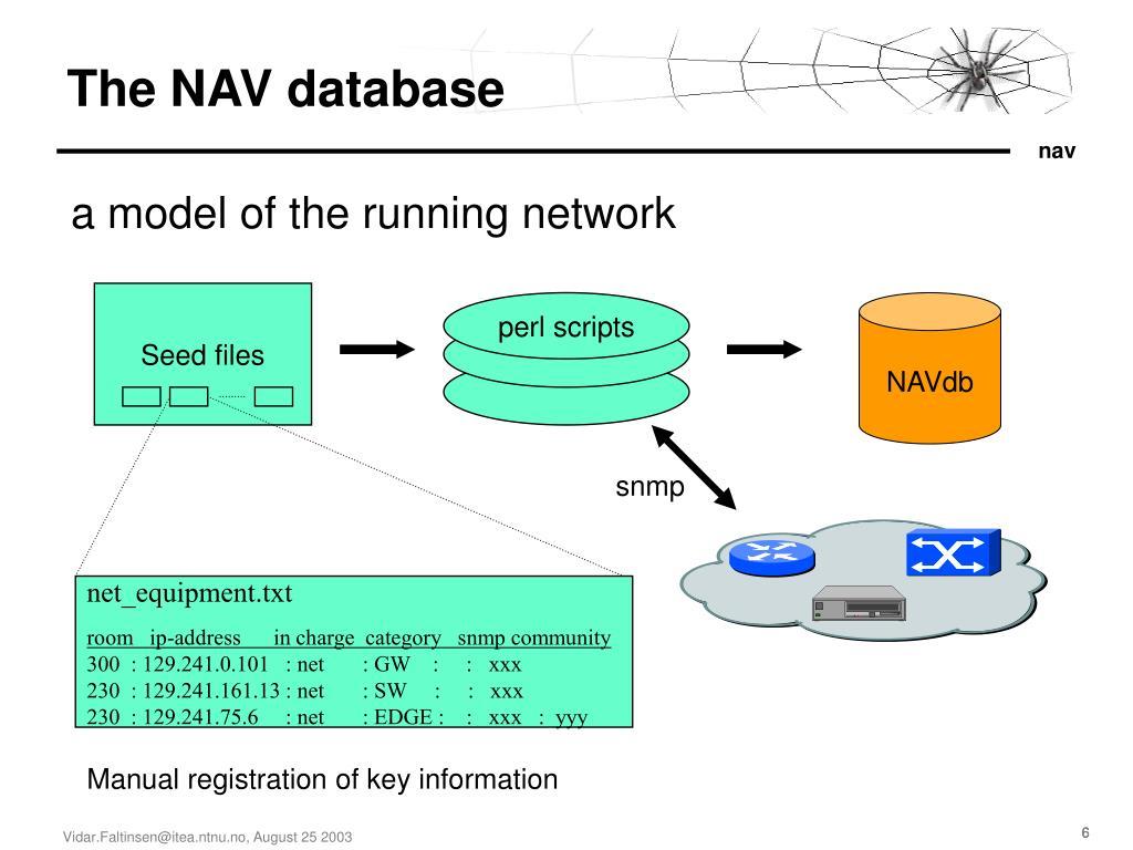 The NAV database