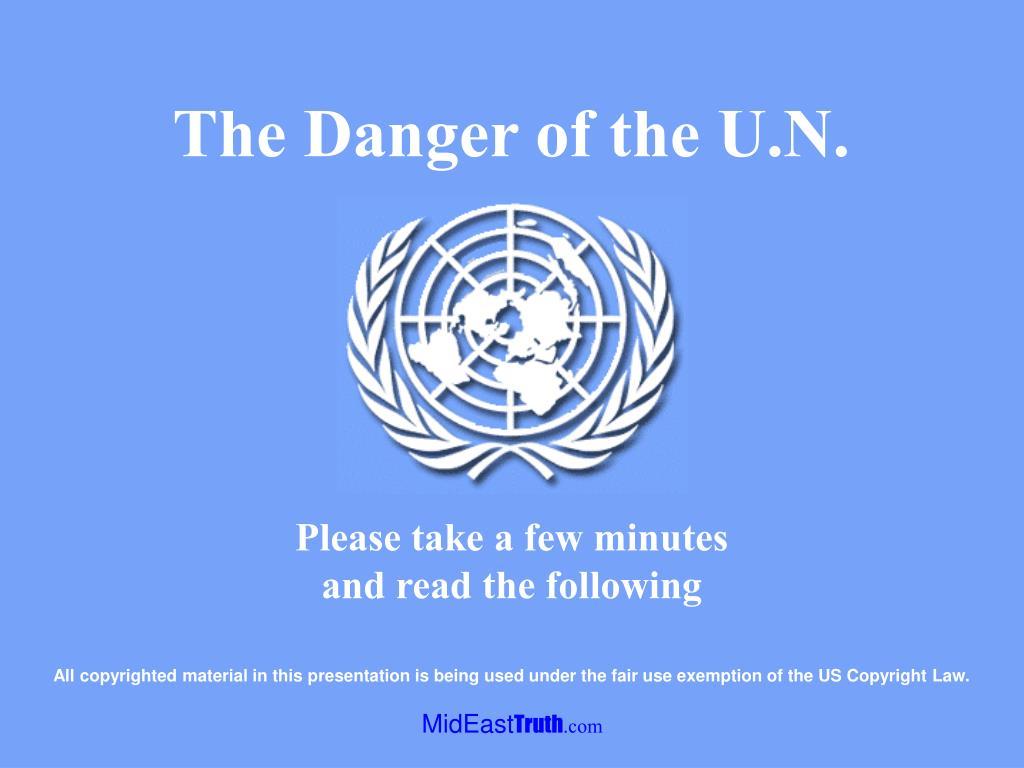The Danger of the U.N.