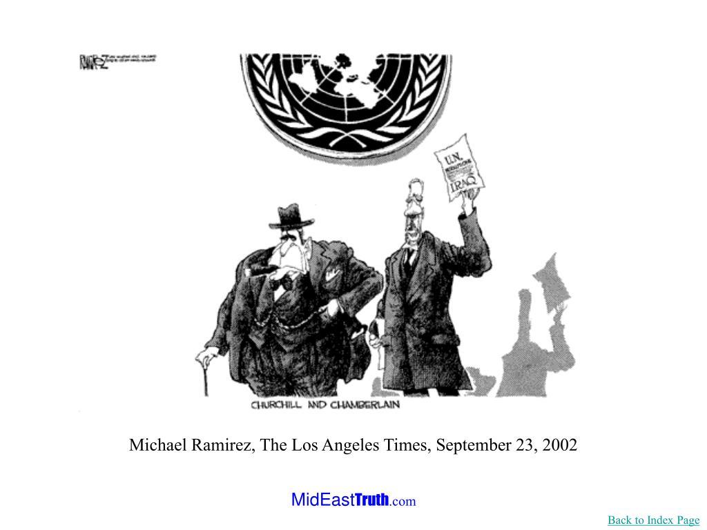 Michael Ramirez, The Los Angeles Times, September 23, 2002