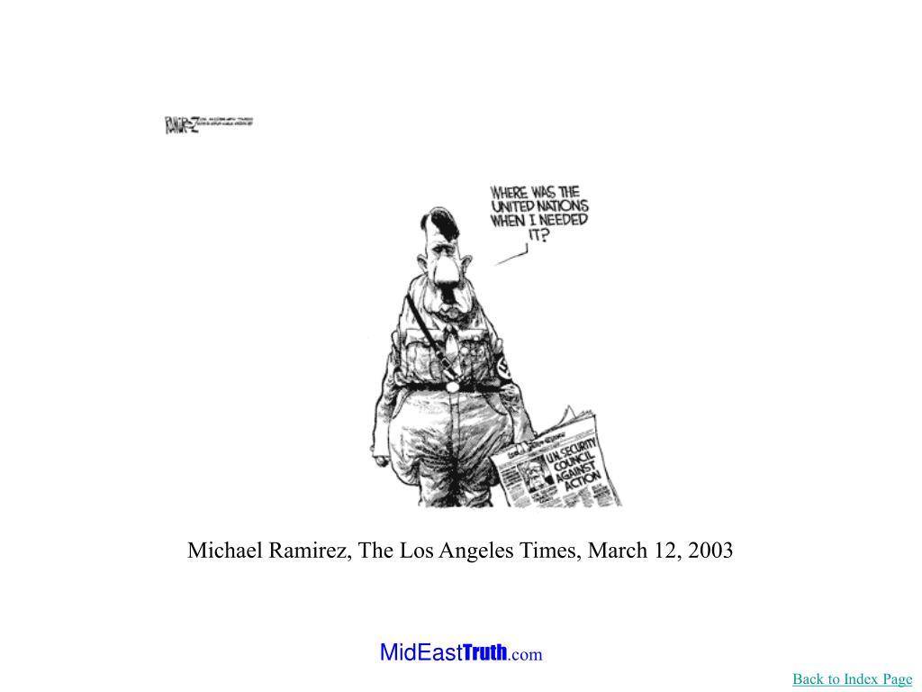 Michael Ramirez, The Los Angeles Times, March 12, 2003