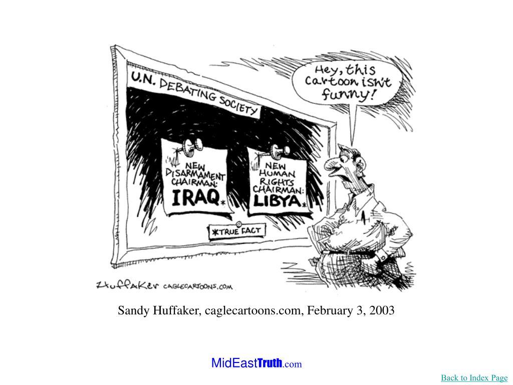 Sandy Huffaker, caglecartoons.com, February 3, 2003