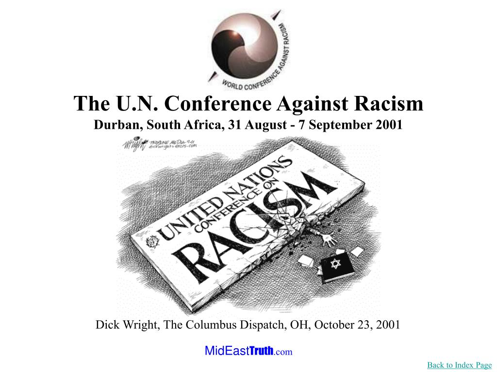 The U.N. Conference Against Racism