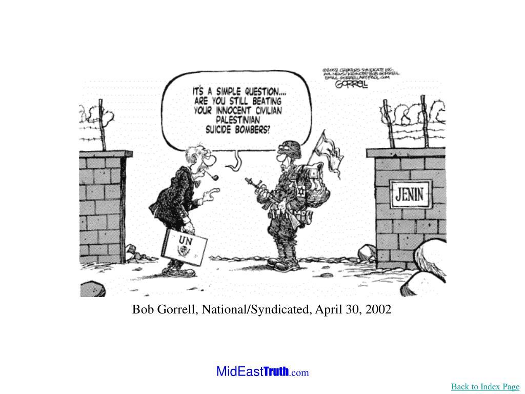 Bob Gorrell, National/Syndicated, April 30, 2002