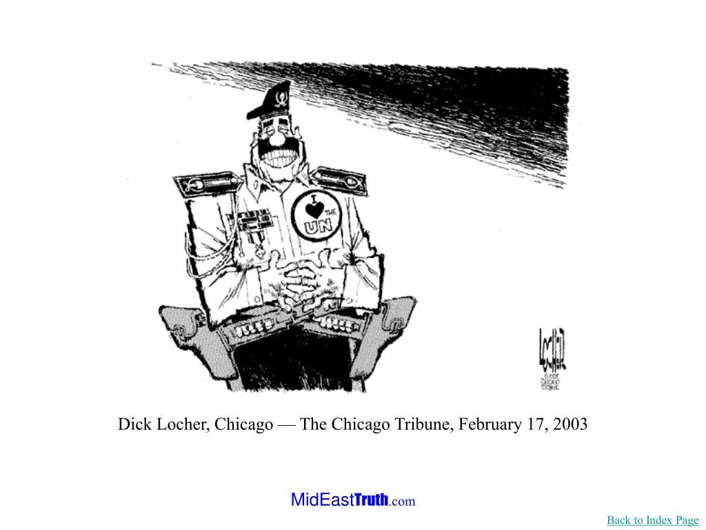 Dick Locher, Chicago — The Chicago Tribune, February 17, 2003
