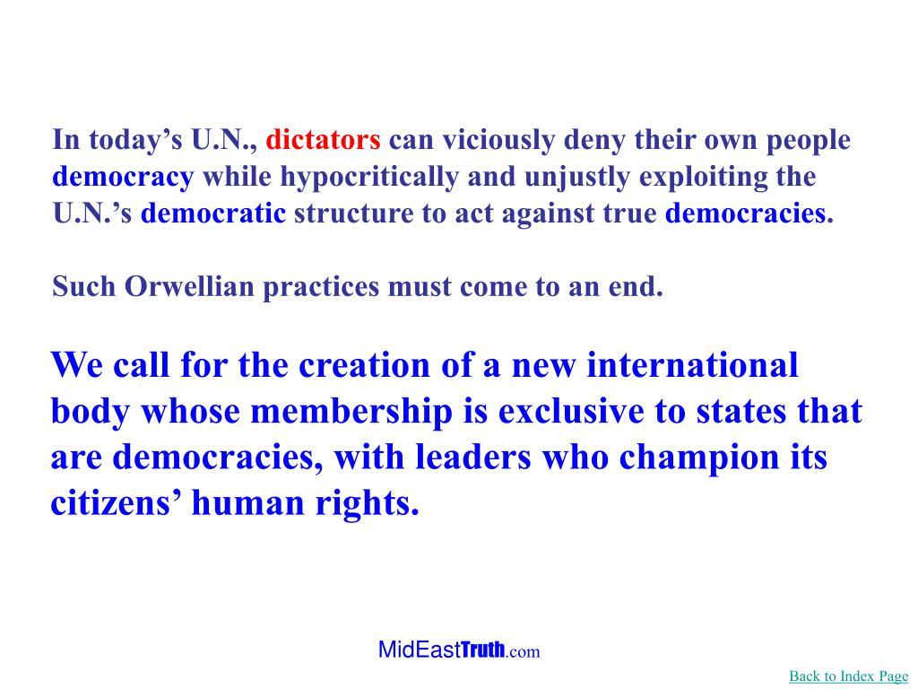 In today's U.N.,