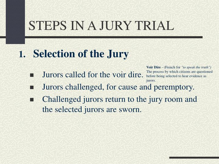 Steps in a jury trial3