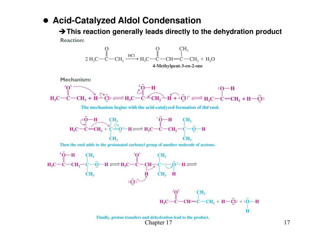 Acid-Catalyzed Aldol Condensation