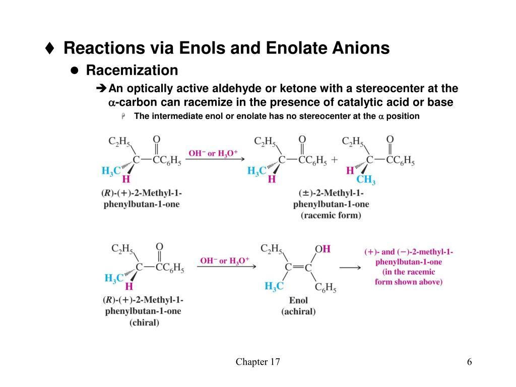 Reactions via Enols and Enolate Anions