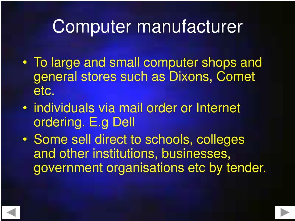Computer manufacturer