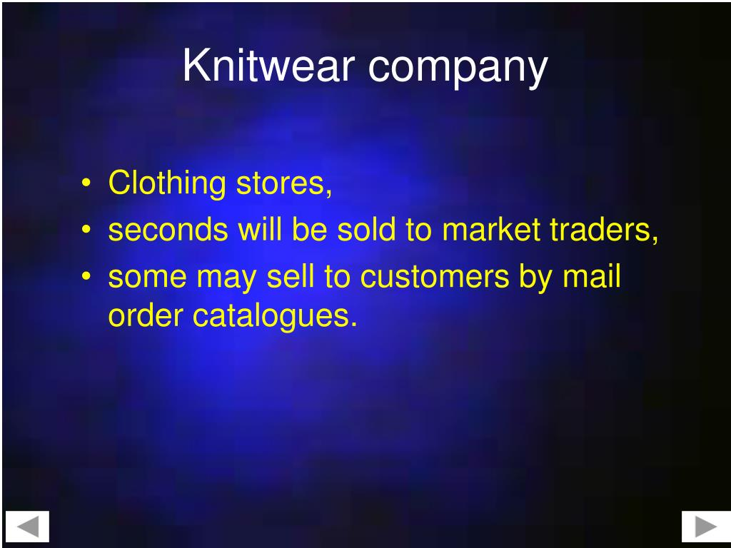 Knitwear company
