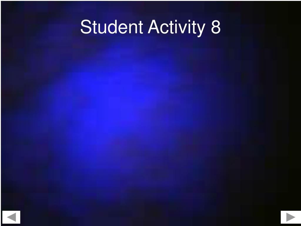 Student Activity 8