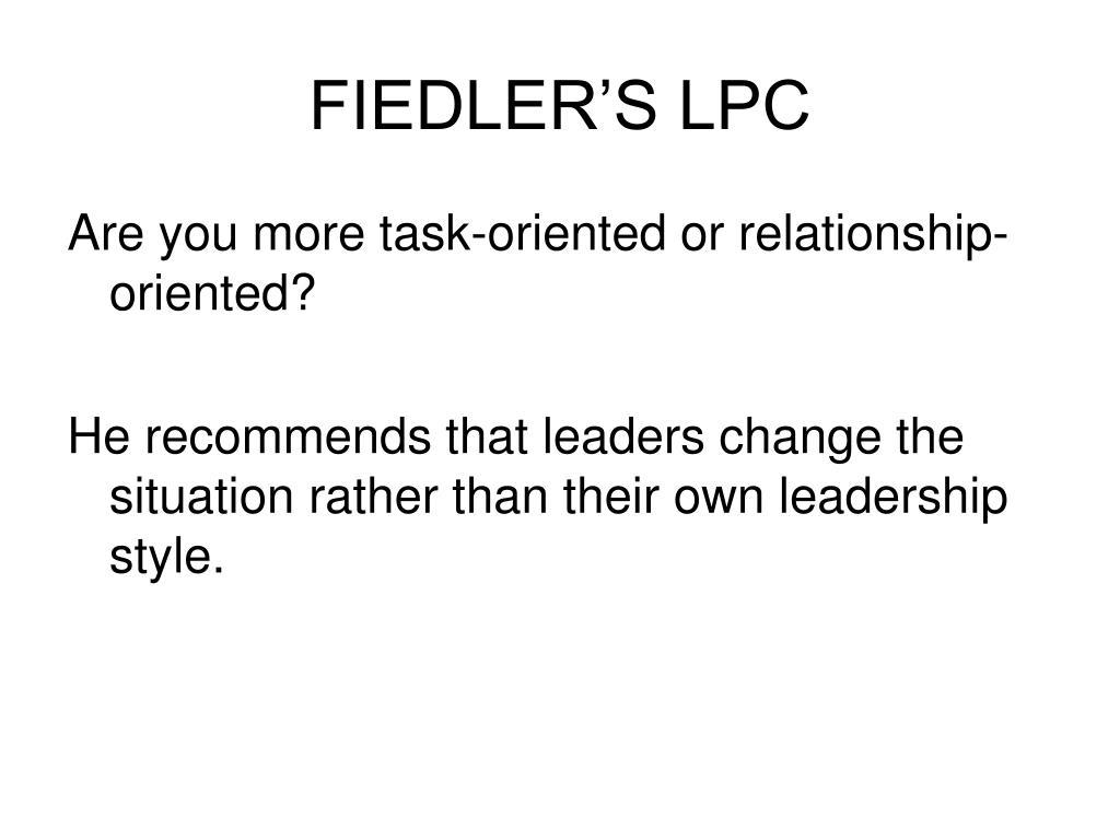 FIEDLER'S LPC