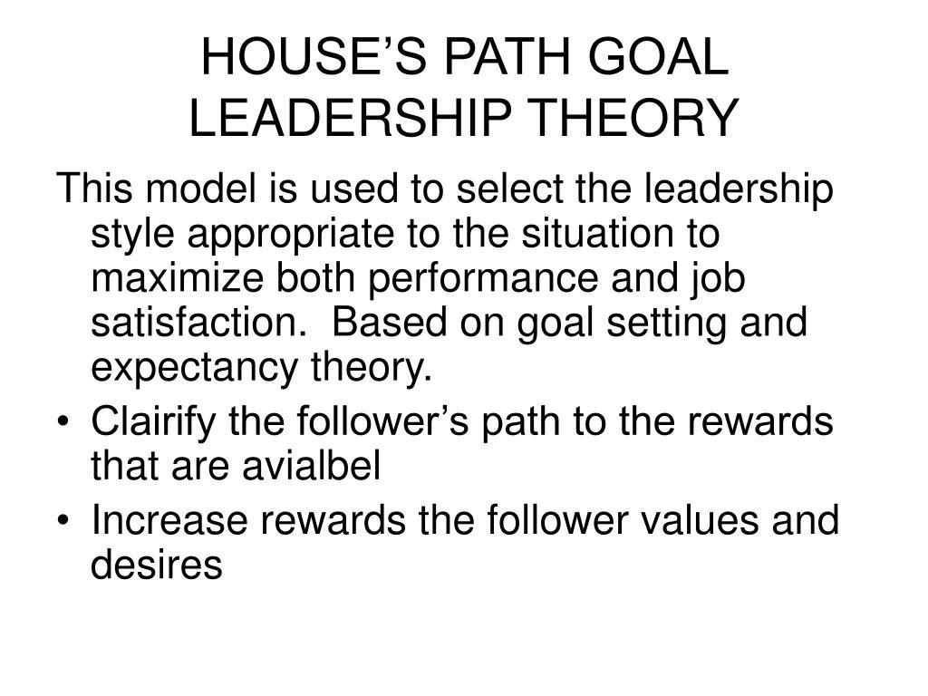 HOUSE'S PATH GOAL LEADERSHIP THEORY