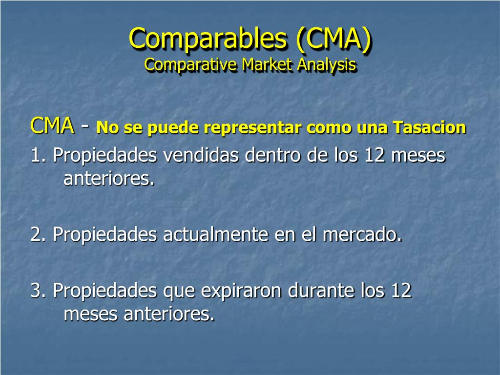 Comparables (CMA)