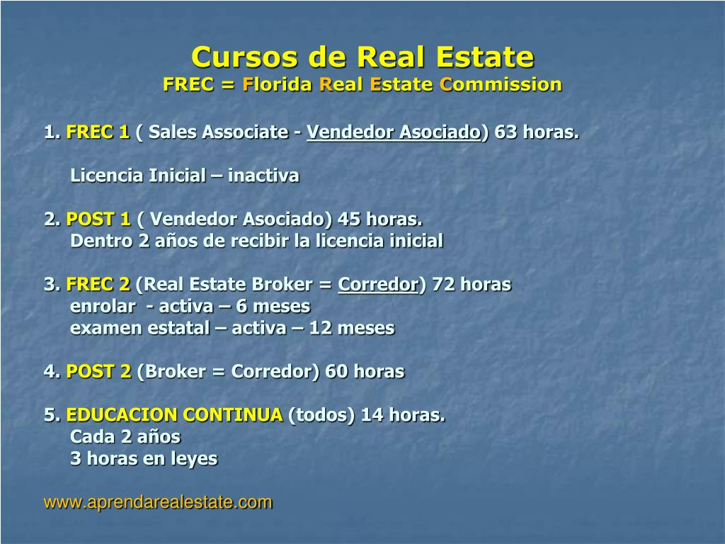 Cursos de Real Estate