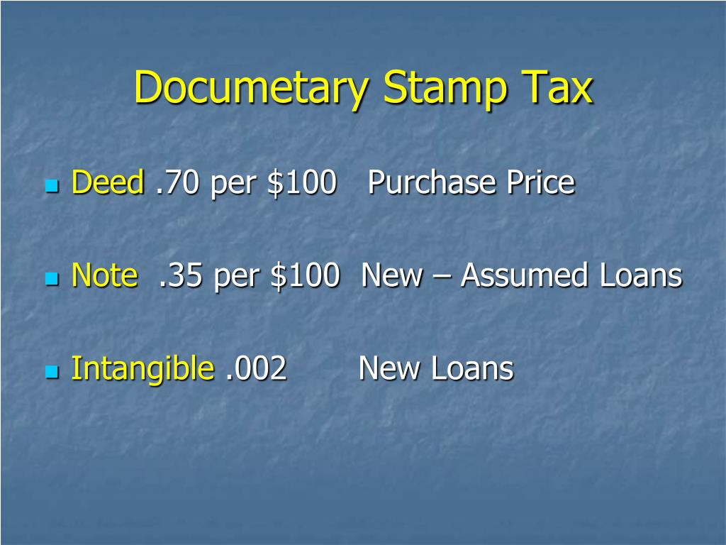 Documetary Stamp Tax