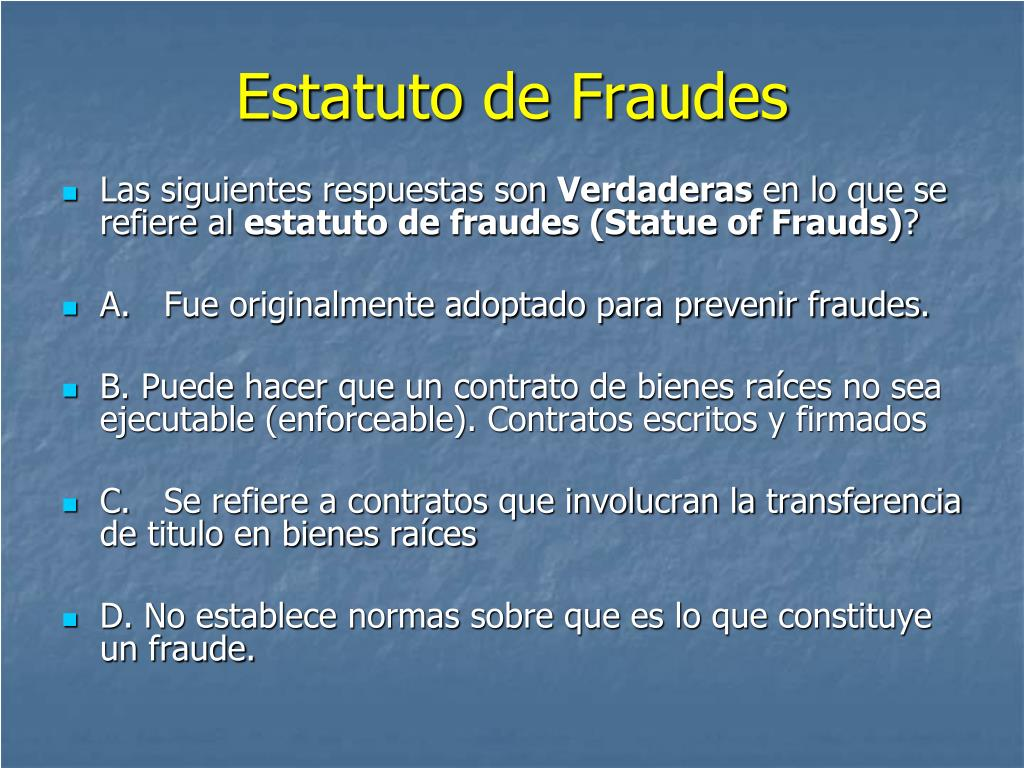 Estatuto de Fraudes