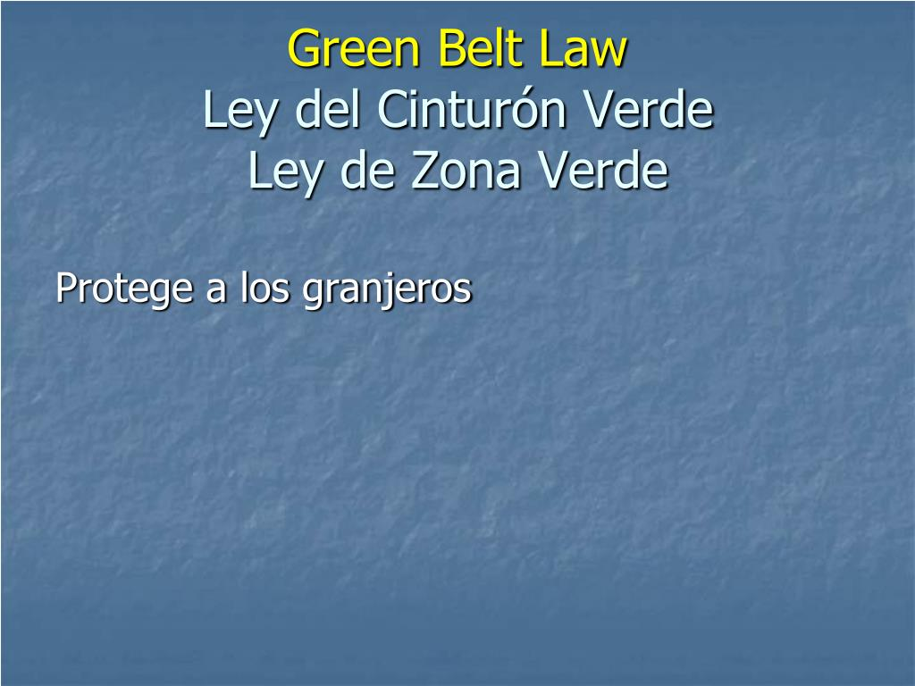 Green Belt Law