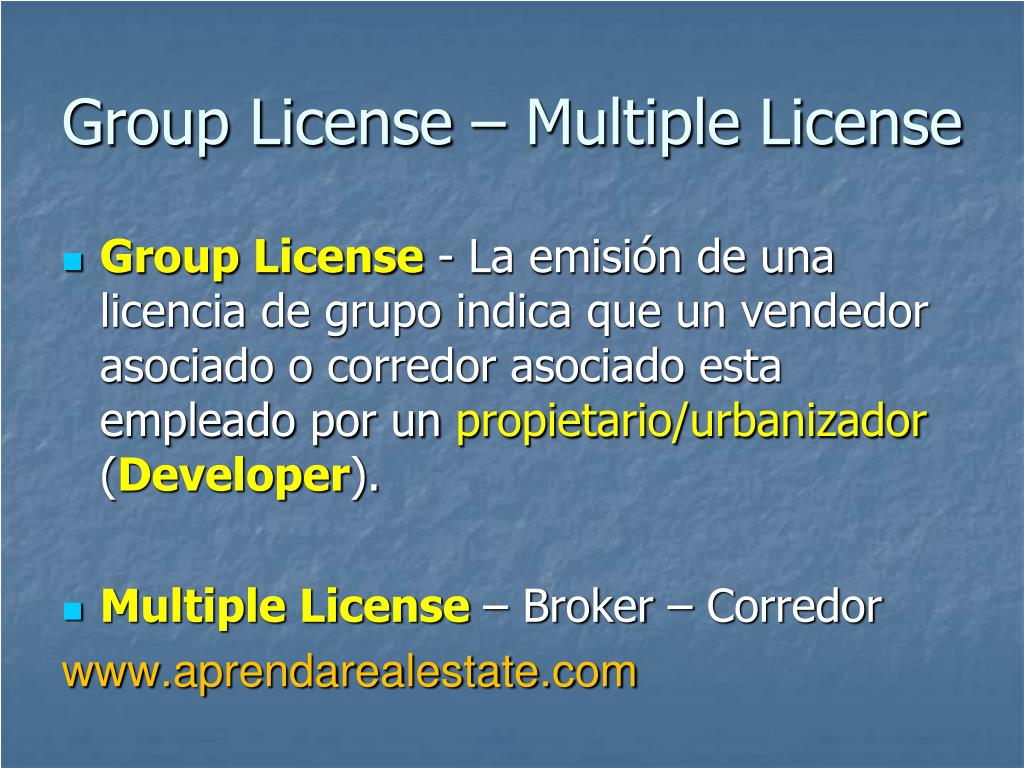 Group License – Multiple License