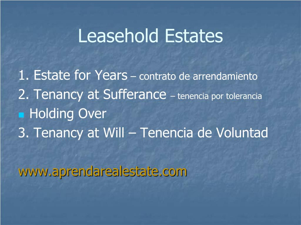 Leasehold Estates