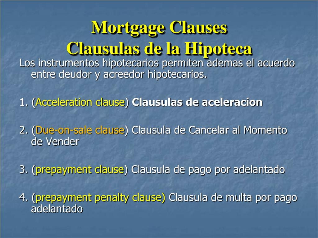 Mortgage Clauses