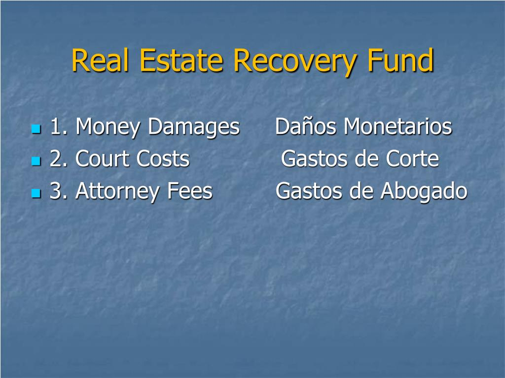 Real Estate Recovery Fund