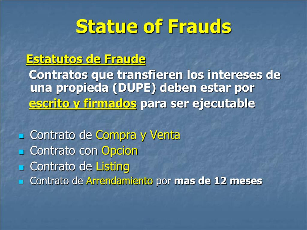 Statue of Frauds