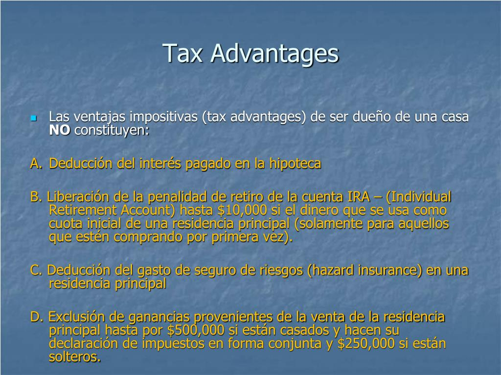 Tax Advantages