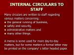 internal circulars to staff