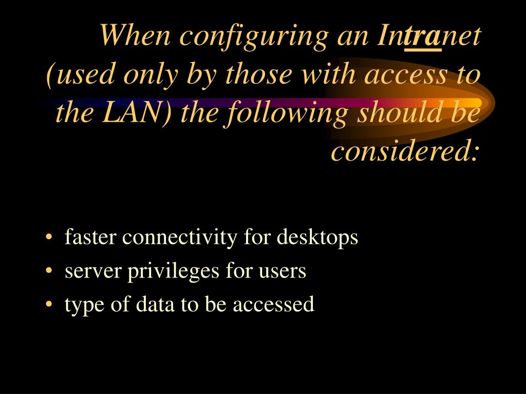 When configuring an In