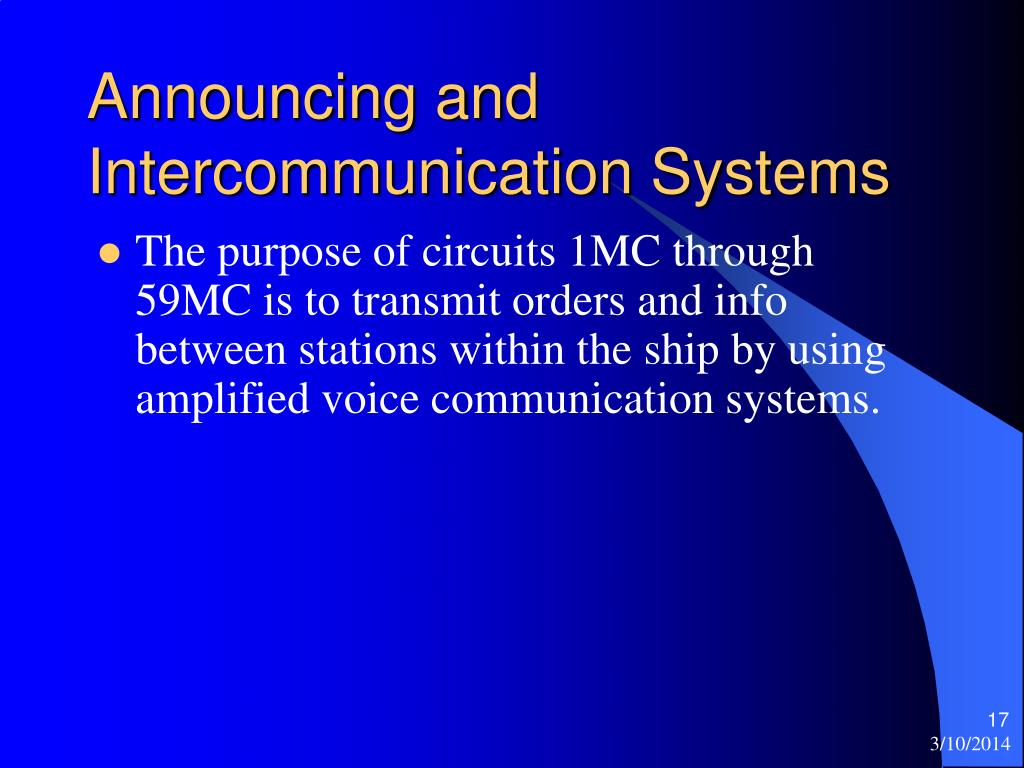 Announcing and Intercommunication Systems