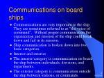 communications on board ships