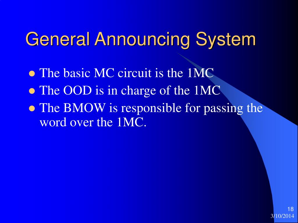 General Announcing System