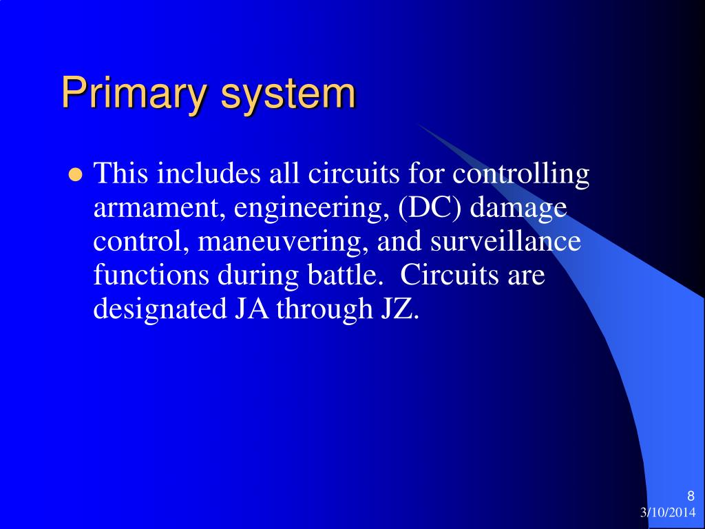 Primary system