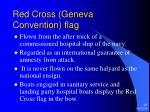 red cross geneva convention flag